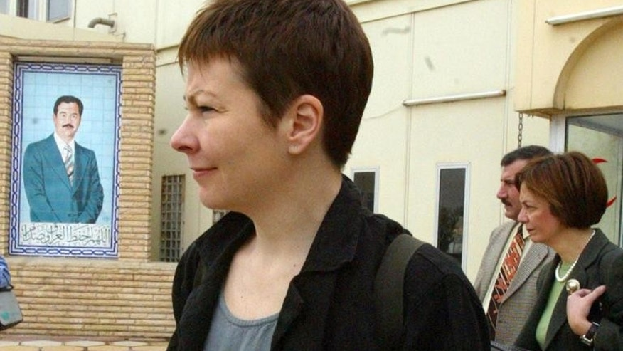 File picture shows then European MP Caroline Lucas in Baghdad on February 4, 2003.