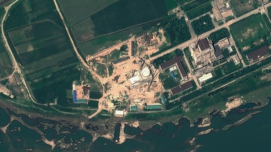 Satellite image shows the Yongbyon Nuclear Scientific Research Centre in North Korea, on August 6, 2012