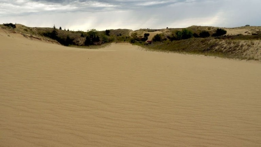 Image taken on September 1, 2013 shows sand dunes at Spirit Sands, located in the vast Spruce Woods Provincial Park, about 200 km west of Winnipeg, the capital of the province of Manitoba.