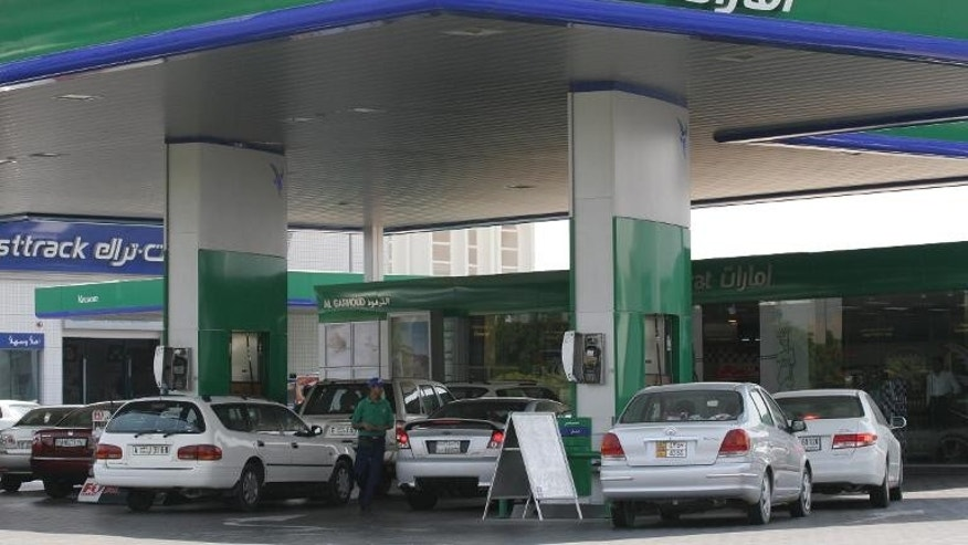 A gas station in Dubai, 31 August 2005, the United Arab Emirates