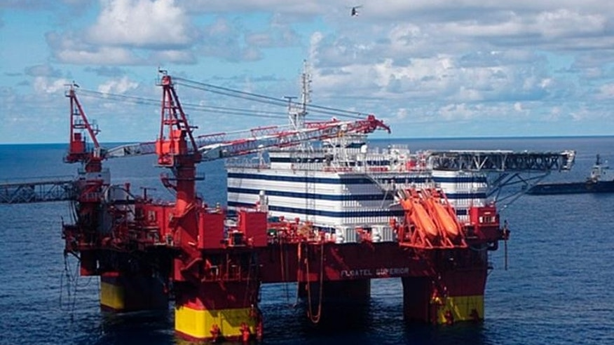 This handout picture taken in May 2010 shows a Statoil oil rig in the Norwgian Sea