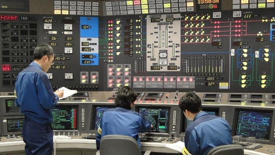 File photo of the operating room at TEPCO's Kashiwazaki-Kariwa nuclear power plant in Niigata prefecture, northern Japan.