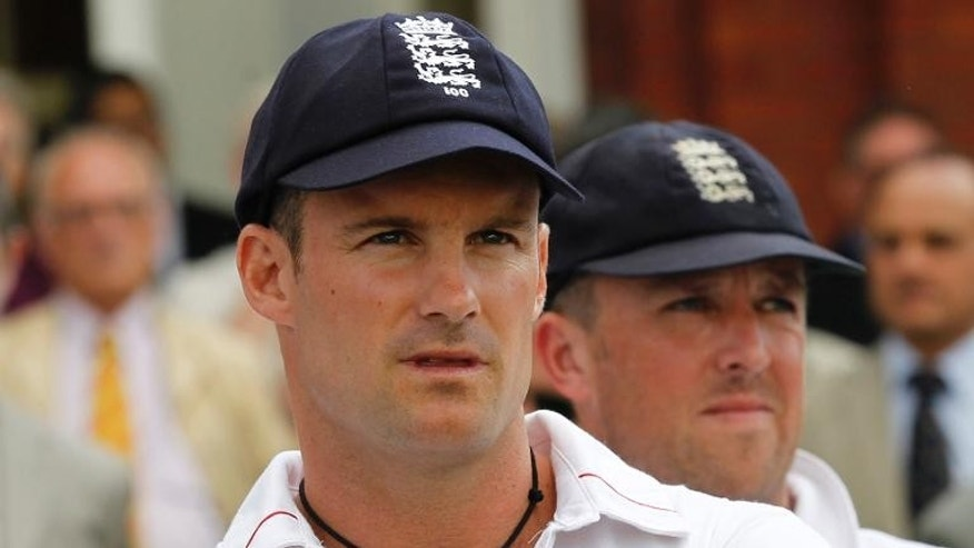 England's captain Andrew Strauss at Lord's cricket ground, London on August 20, 2012