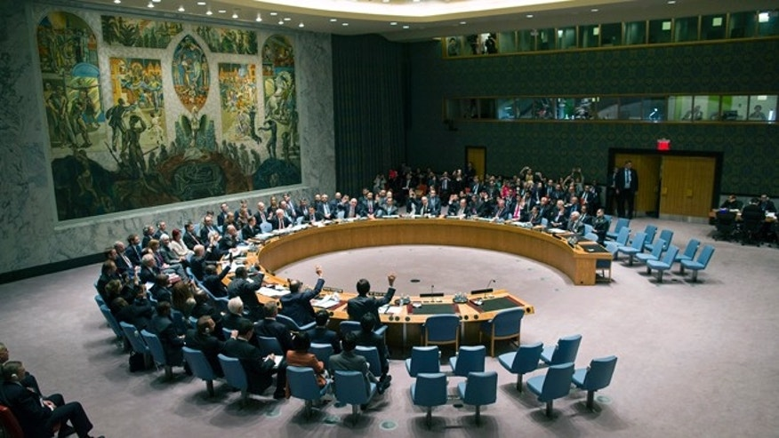 Sept. 27, 2013: The United Nations Security Council votes on a resolution that will require Syria to give up its chemical weapons at U.N. Headquarters.