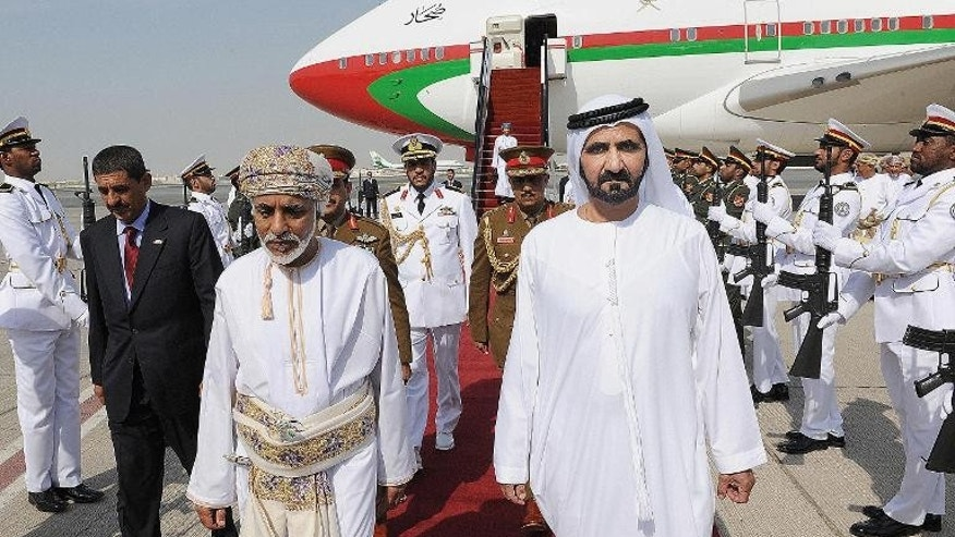 Sheikh Mohammed bin Rashid al-Maktoum arrives at Dubai airport on October 22, 2012