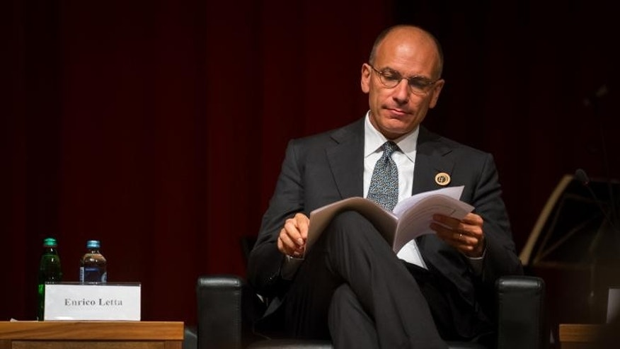 Italian Prime minister Enrico Letta attend the opening meeting of Bled Strategic Forum in Bled, on September 2, 2013.