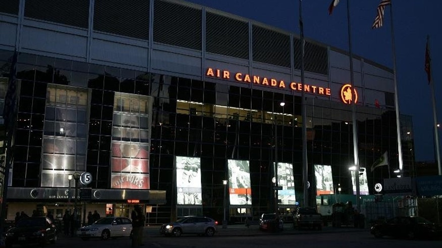 An exterior view of the Air Canada Centre in Toronto, which has been choosen by the National Basketball Association to host the 2016 all-star game, the first time the showcase event has been held outside the United States