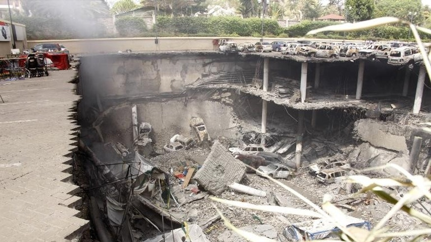 A destroyed section of the Westgate mall in Nairobi on September 26, 2013