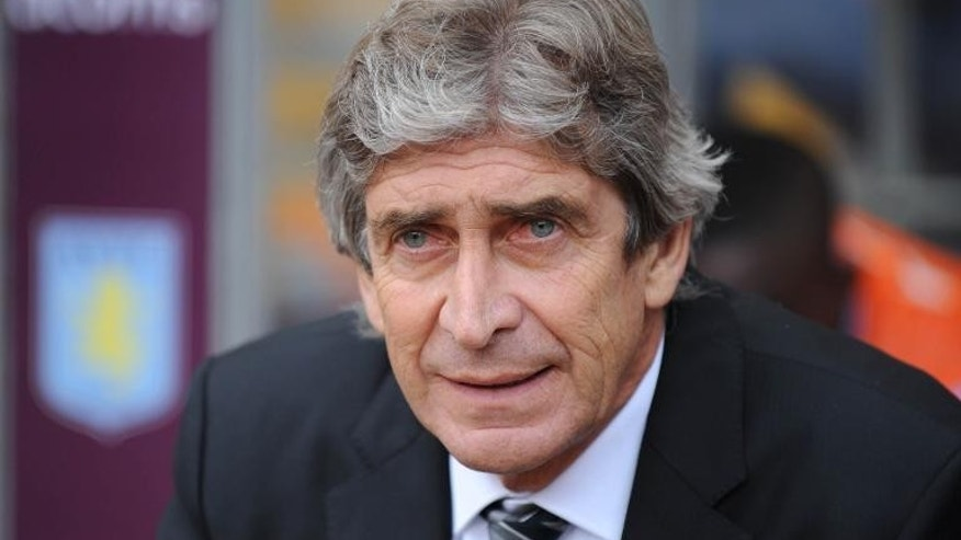 Manchester City manager Manuel Pellegrini pictured during a Premier League match against Aston Villa in Birmingham on September 28, 2013