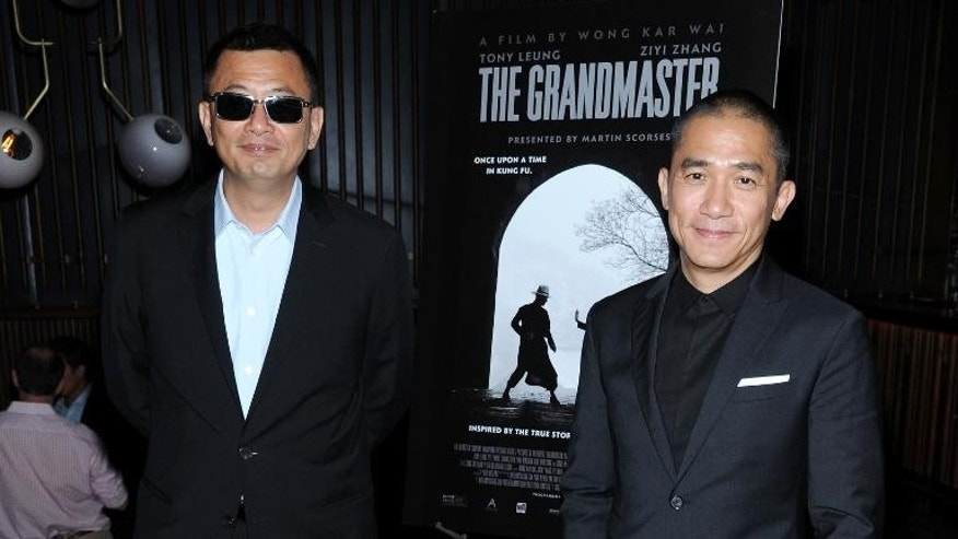 "Director Wong Kar-wai and actor Tony Leung at ""The Grandmaster"" New York Screening after-party on August 13, 2013"