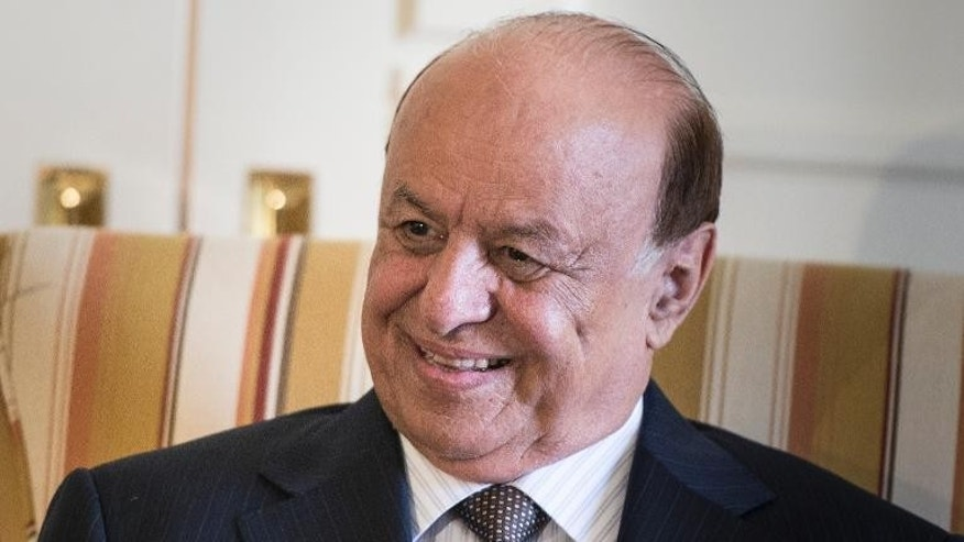 Yemeni President Abdo Rabbo Mansour Hadi smiles ahead of a meeting with US Treasury Secretary Jack Lew in Washington, on July 29, 2013