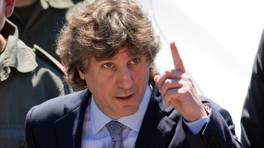 Argentina's Vice President Amado Boudou attends a presentation of new police cars outside the government house in Buenos Aires, Argentina, Monday, Oct. 7, 2013. Doctors ordered Argentine President Cristina Fernandez to take a month's rest Sunday because they found blood on her brain from a head injury.  There has been no official word on whether she would formally put the government in the hands of Boudou, who called off a trip to the Cannes film festival to rush back to Buenos Aires. (AP Photo/Natacha Pisarenko)