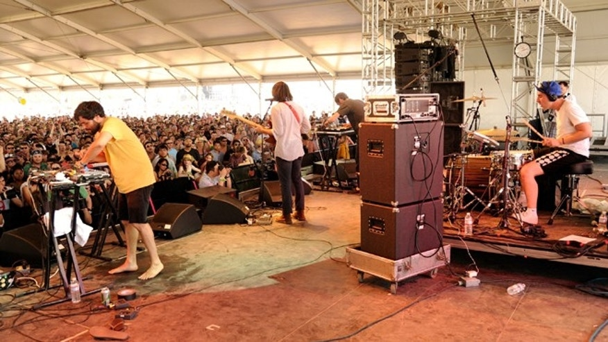 INDIO, CA - APRIL 17:  Musical group Delorean performs during Day 3 of the Coachella Valley Music & Arts Festival 2011 held at the Empire Polo Club on April 17, 2011 in Indio, California.  (Photo by Karl Walter/Getty Images)