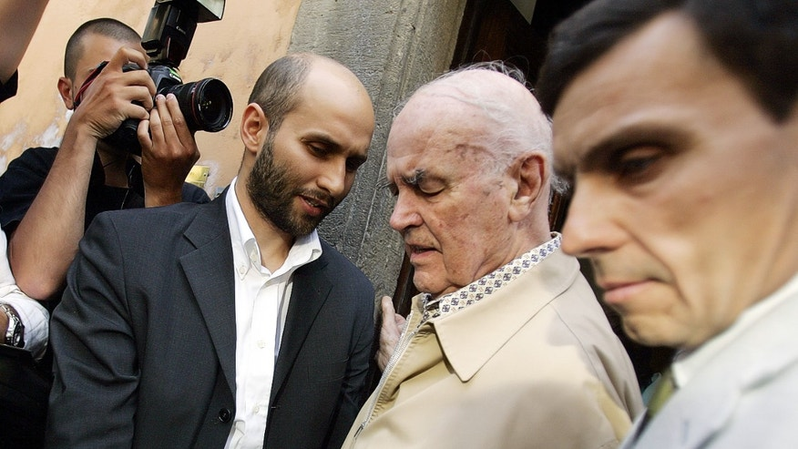 June 18, 2007 - FILE photo of former Nazi officer, Erich Priebke (then 93,)  leaving his lawyer's office, in Rome. Priebke, an ex SS captain sentenced to life for the 1944's Ardeatine caves massacre in Italy, died at 100 Friday. Argentine and Roman authorities have refused to allow his burial due to his involvement in war crimes.