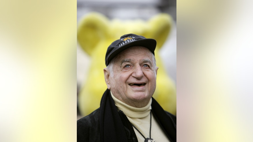 The Oct. 22, 2009 photo shows Hans Riegel, the longtime boss of German candy maker Haribo who took the gummi bear to international fame, in Bonn, western Germany.  Haribo said in a statement that Riegel, the son of the company's founder, died of heart failure in Bonn on Tuesday. He was 90. (AP Photo/dpa, Rolf Vennenbernd)
