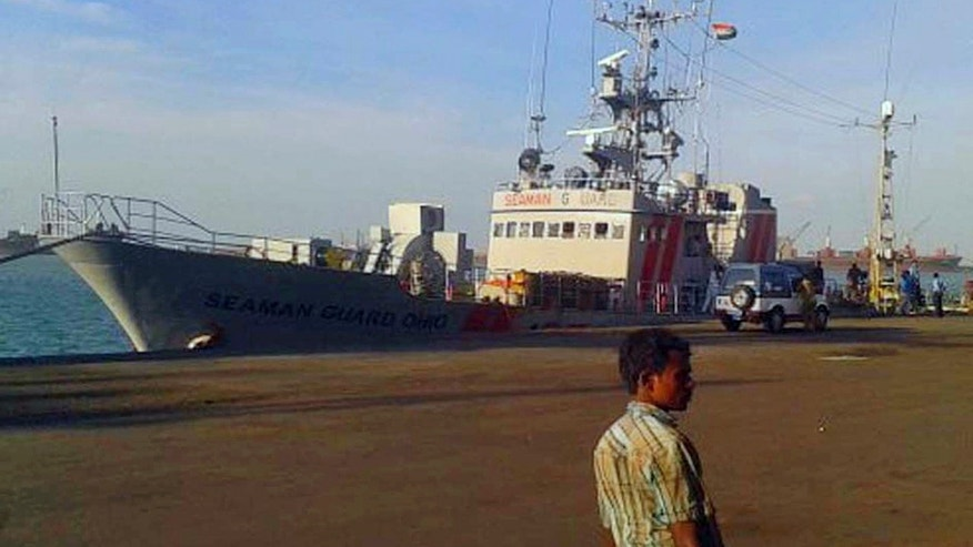 Oct. 13, 2013 - U.S.-owned ship MV Seaman Ohio detained at the Tuticorin port in Tamil Nadu, India. Indian police said they are questioning the crew of the ship accused of illegally transporting weapons and ammunition in Indian waters.