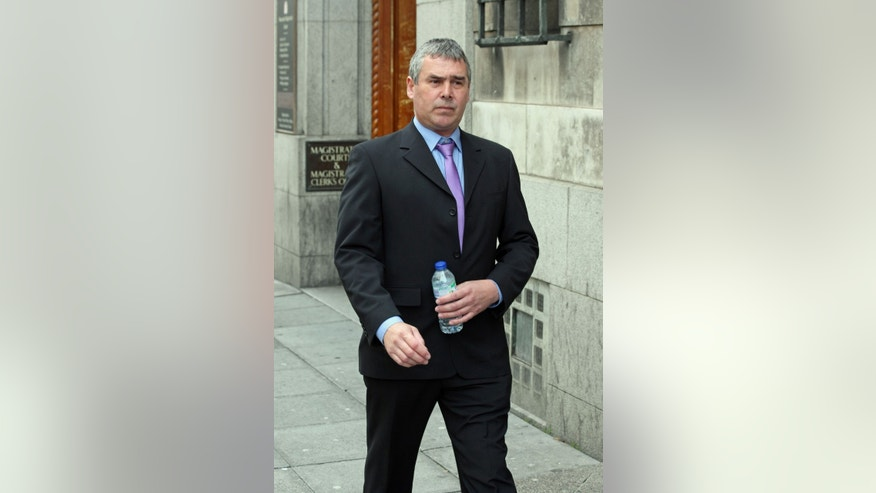 Sept. 9, 2013: In this photo,  Barry Rogerson arrives at Newcastle Magistrates' Court in northeast England.