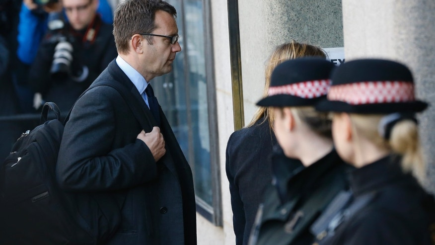 Oct. 28, 2013 - Andy Coulson arrives at court in London. Former 'News of the World' editors Rebekah Brooks and Coulson went on trial Monday, along with several others, on charges of hacking phones and bribing officials while at the now-shuttered tabloid.