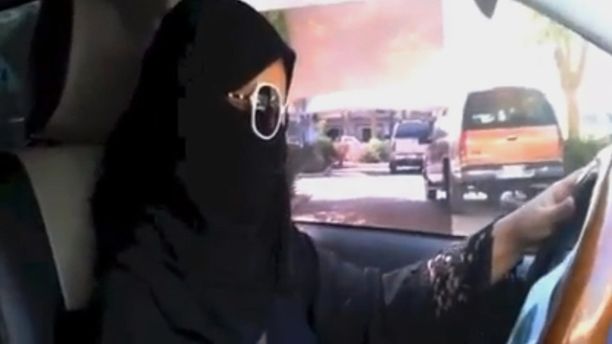 In this image made from video provided by theOct26thDriving campaign, which has been authenticated based on its contents and other AP reporting, a Saudi woman drives a vehicle in Riyadh, Saudi Arabia, Saturday, Oct. 26, 2013. A Saudi woman said she got behind the wheel Saturday and drove to the grocery store without being stopped or harassed by police, kicking off a campaign protesting the ban on women driving in the ultraconservative kingdom. (AP Photo)