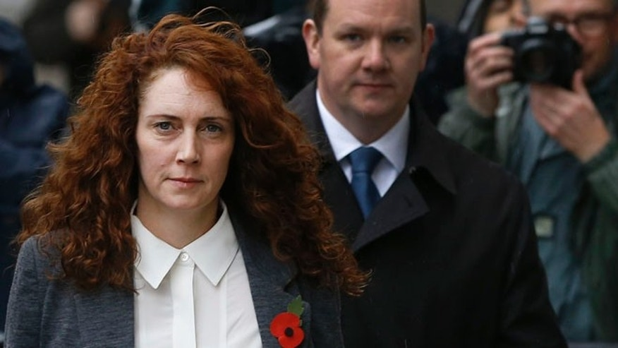 Oct. 31, 2013: Rebekah Brooks arrives at The Old Bailey law court in London.