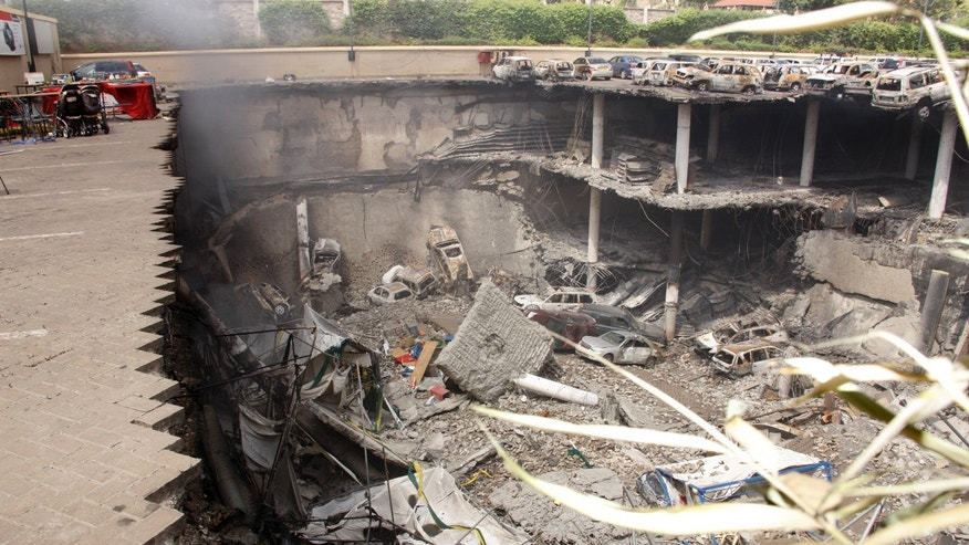 Sept. 26, 2013 - FILE photo Collapsed upper car park of the Westgate Mall in Nairobi, Kenya.