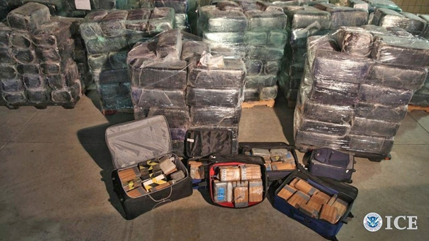 A 600-yard tunnel leading to an industrial park in San Diego brought millions of dollars worth of drugs into the U.S. (U.S. Department of Homeland Security)