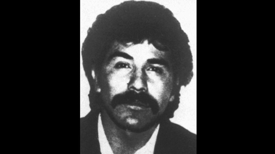 Undated file photo distributed by the Mexican government shows Rafael Caro Quintero, considered the grandfather of Mexican drug trafficking.