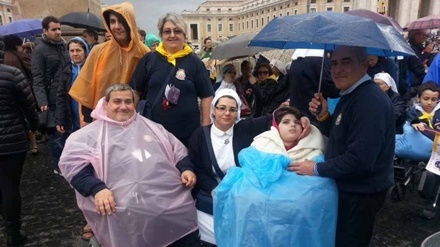 On a recent visit, hundreds of wheelchair-bound worshipers were greeted personally by Pope Francis. (FoxNews.com)