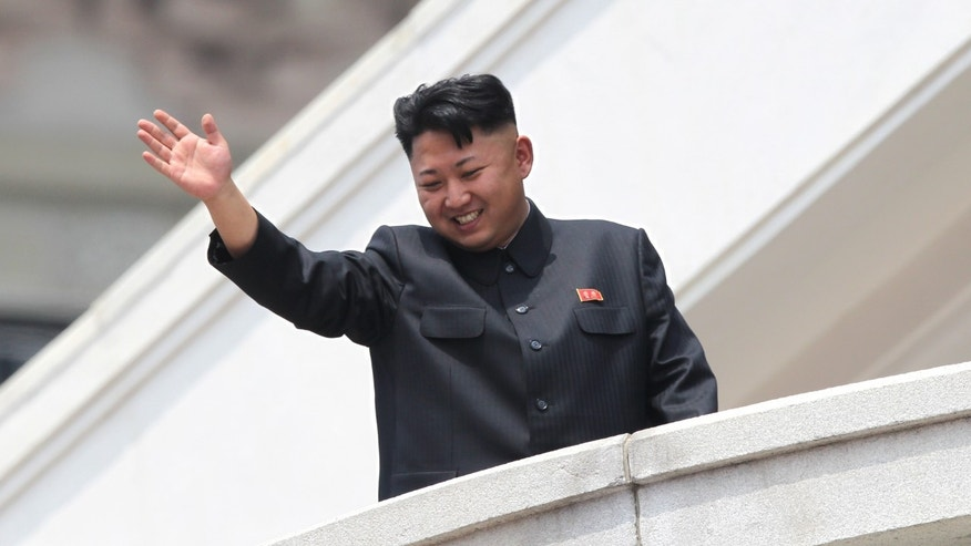 July 27, 2013 - FILE photo of  North Korean leader Kim Jong Un, waving to war veterans during a mass military parade celebrating the 60th anniversary of the Korean War armistice in Pyongyang, North Korea.