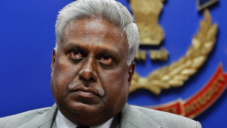 Dec. 3, 2012: In this file photo, India's Central Bureau of Investigation (CBI) director Ranjit Sinha addresses a press conference at the CBI headquarters in New Delhi, India.