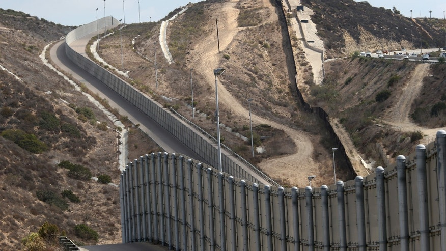 U.S.-Mexico border fence near San Diego, California.