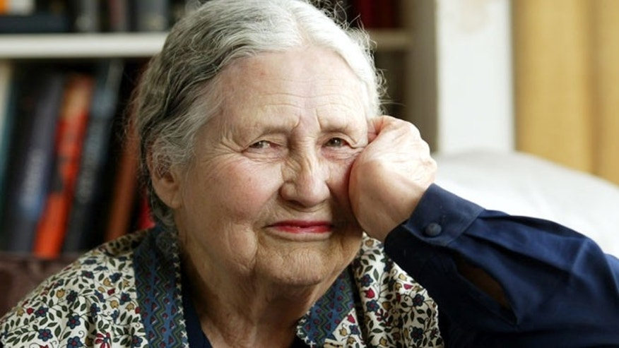 April 17, 2006: In this file photo, Writer Doris Lessing, 86, sits in her home in north London.
