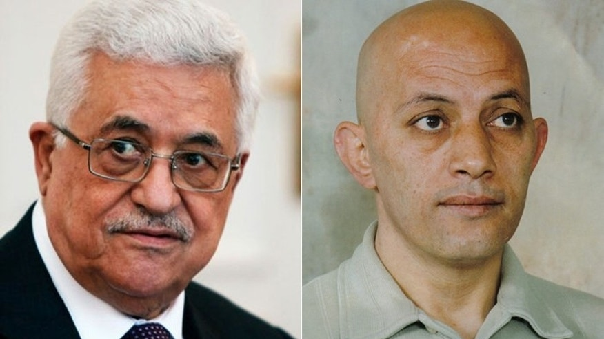 Palestinian Authority President Mahmoud Abbas, (l.), has made winning the freedom of killers such as Issa Abed Rabbo, (r.) a top priority. (AP)