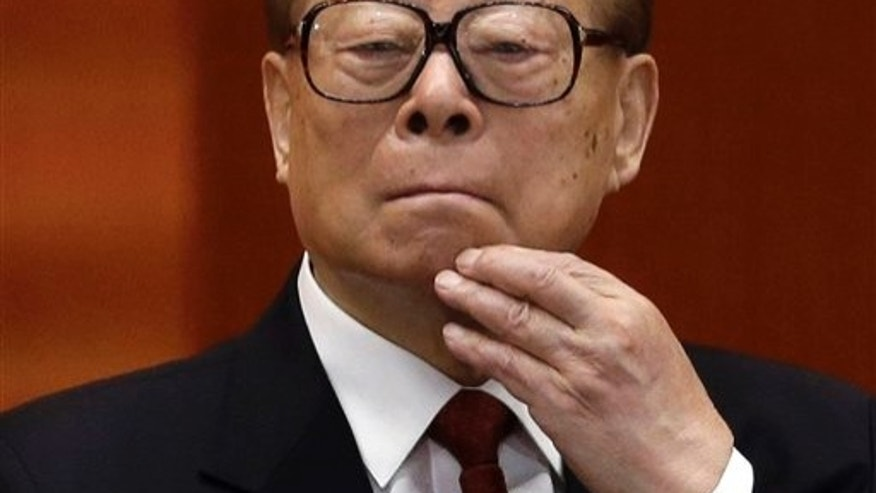 Former Chinese President Jiang Zemin in a Nov. 8, 2012 file photo.