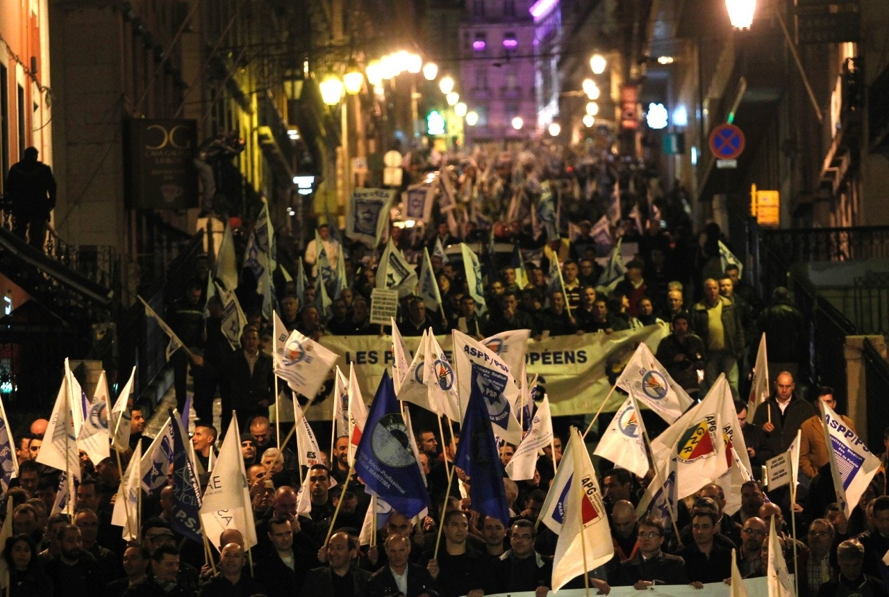 Portuguese police angered by austerity protest outside ...