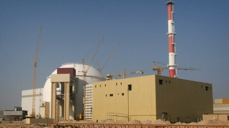 This file photo shows a reactor under construction at the Bushehr nuclear power plant 1000 kms south of Tehran