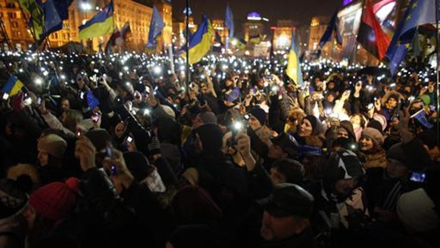Protesters are demanding the ouster of Ukraine's president after he failed to support a trade agreement with the European Union. (Reuters)