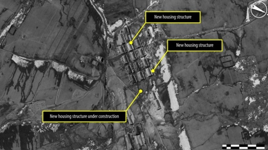 Sept. 23, 2011: This satellite image shows a village in the northern part of North Korean political Camp 16 near Hwaseong in North Hamgyong province. The area appears to have undergone change in the observation time frame, with new housing being recently added or under construction, according to Amnesty International.