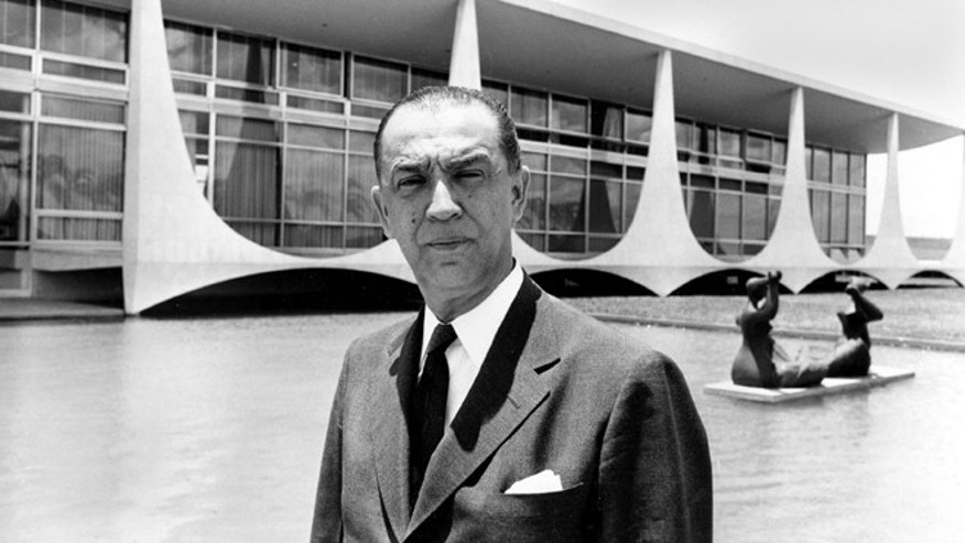In this undated 1960 file photo, Brazil President Juscelino Kubitschek poses for a photo in Brasilia, Brazil.