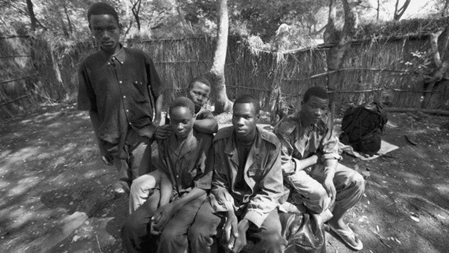 Five of the 19 recent defectors from Joseph Kony's Lord Resistance Army.