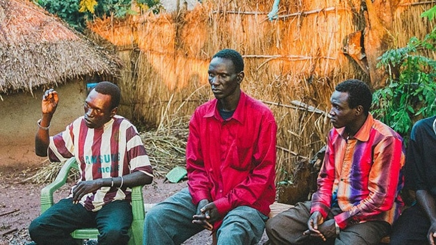 One of the group of LRA defectors was high-ranking Lt. Col. Okello Okutti (center).