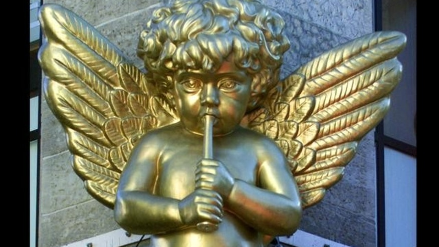 Undated FILE photo of angel decoration in Germany.