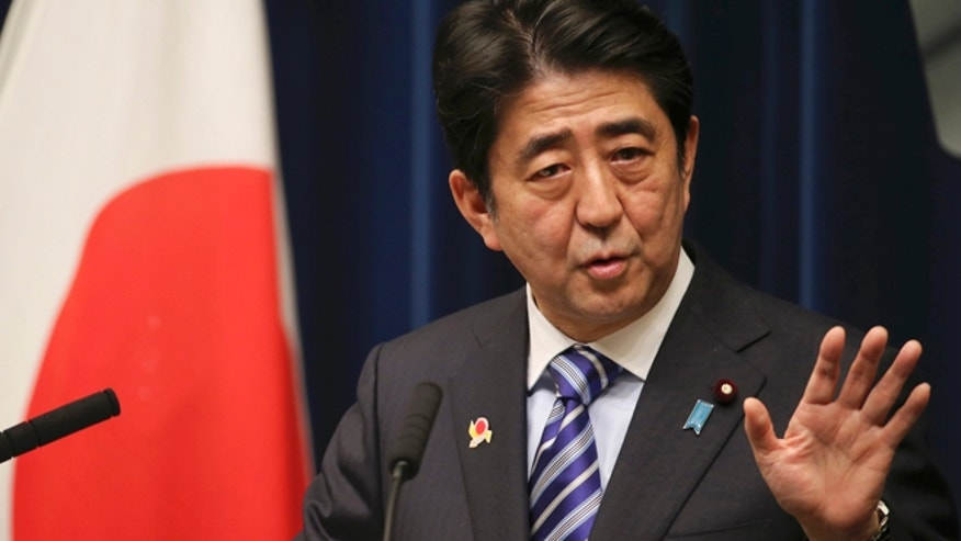 Dec. 14, 2013: Japanese Prime Minister Shinzo Abe speaks during a press conference at his official residence in Tokyo.