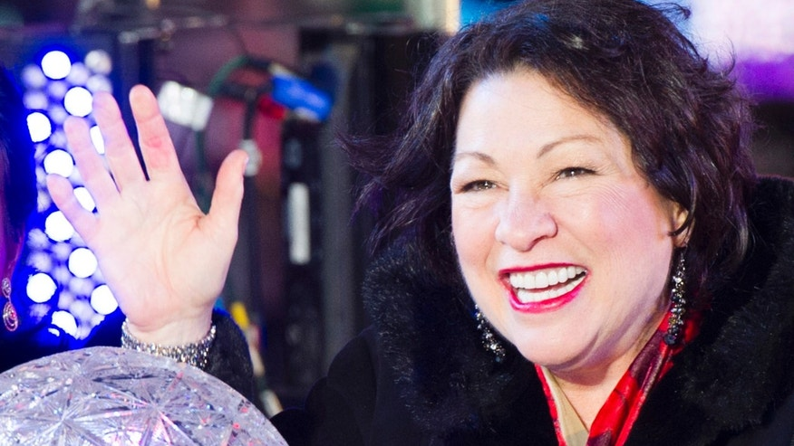 Supreme Court Justice Sonia Sotomayor in Times Square on Dec. 31, 2013 in New York.