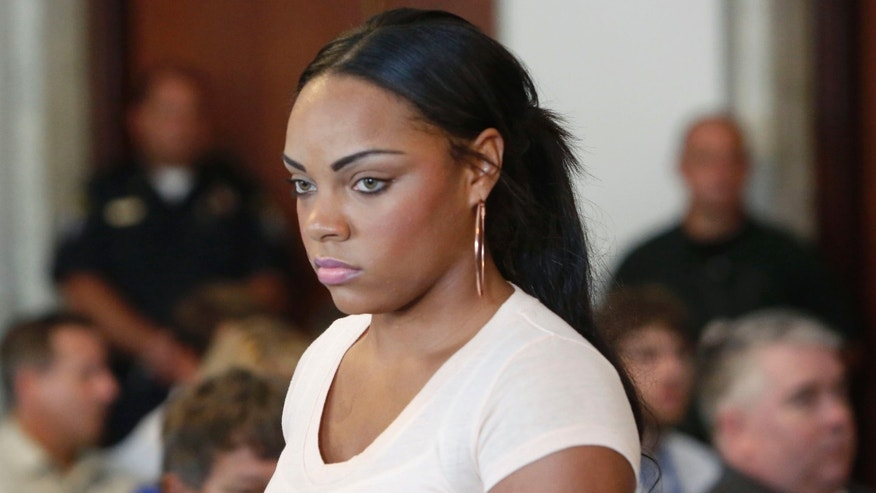 Shayanna Jenkins, fiancee of former New England Patriots NFL football tight end Aaron Hernandez.