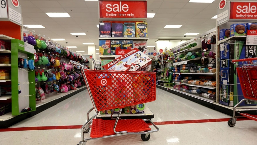 MIAMI, FL - DECEMBER 19: A shopping cart is seen in a Target store on December 19, 2013 in Miami, Florida. Target announced that about 40 million credit and debit card accounts of customers who made purchases by swiping their cards at terminals in its U.S. stores between November 27 and December 15 may have been stolen.  (Photo by Joe Raedle/Getty Images)