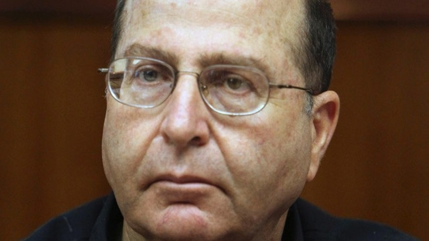 Aug. 23, 2009: Israel's deputy prime minister and minister of strategic affairs Moshe Ya'alon attends the weekly cabinet meeting at the Prime Minister's office in Jerusalem. Ya'alon said Wednesday that technical difficulties have pushed back the Iranian timetable for producing a nuclear weapon. Yaalon, a former military chief whose portfolio includes monitoring Iran, said he believes Iran is at least three years away from developing a nuclear bomb. (AP)