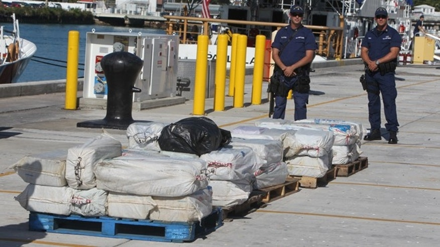 Jan. 28: The U.S. Coast Guard offloads  2,500 pounds and $37 million worth of cocaine at the Coast Guard Base Miami Beach, Fla.