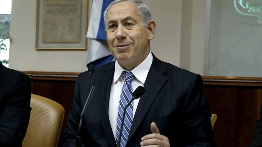 Feb. 2, 2014: Israeli Prime Minister Benjamin Netanyahu chairs the weekly cabinet meeting in Jerusalem.