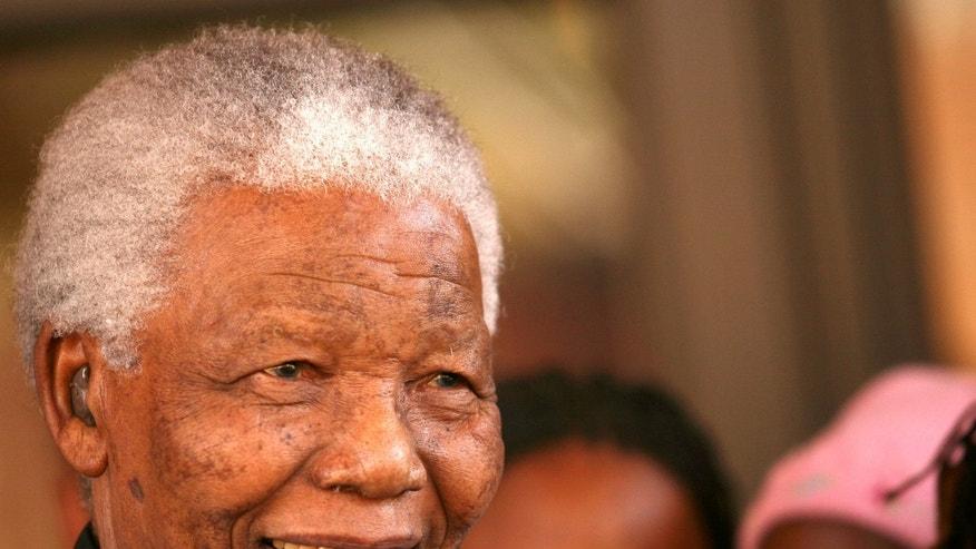 June 13, 2006  - FILE photo of former South African President Nelson Mandela in Johannesburg.